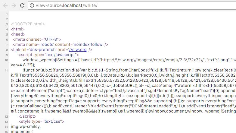 wp_head()によりたくさんのコードが出力される